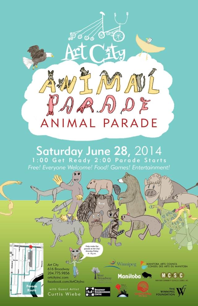 Animal Parade Poster