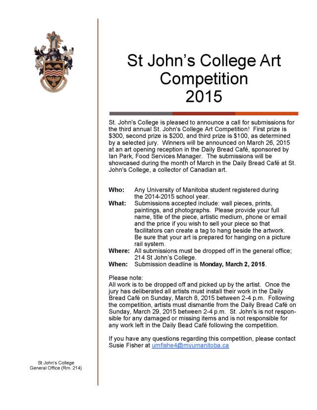 Art Competition 2015 poster