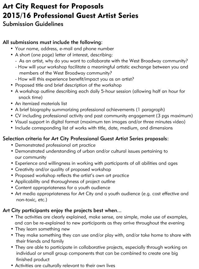 Microsoft Word - Art City_CallForProposals.docx