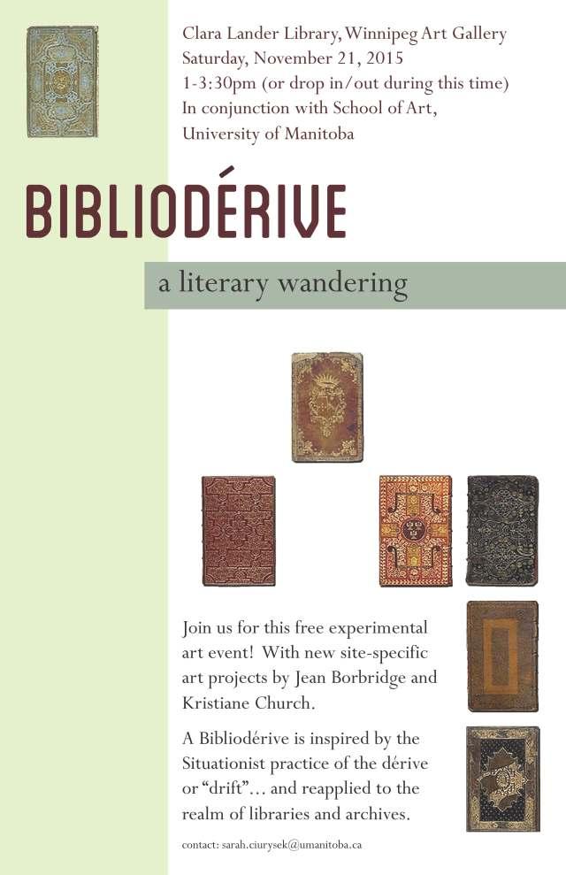 Biblioderive poster