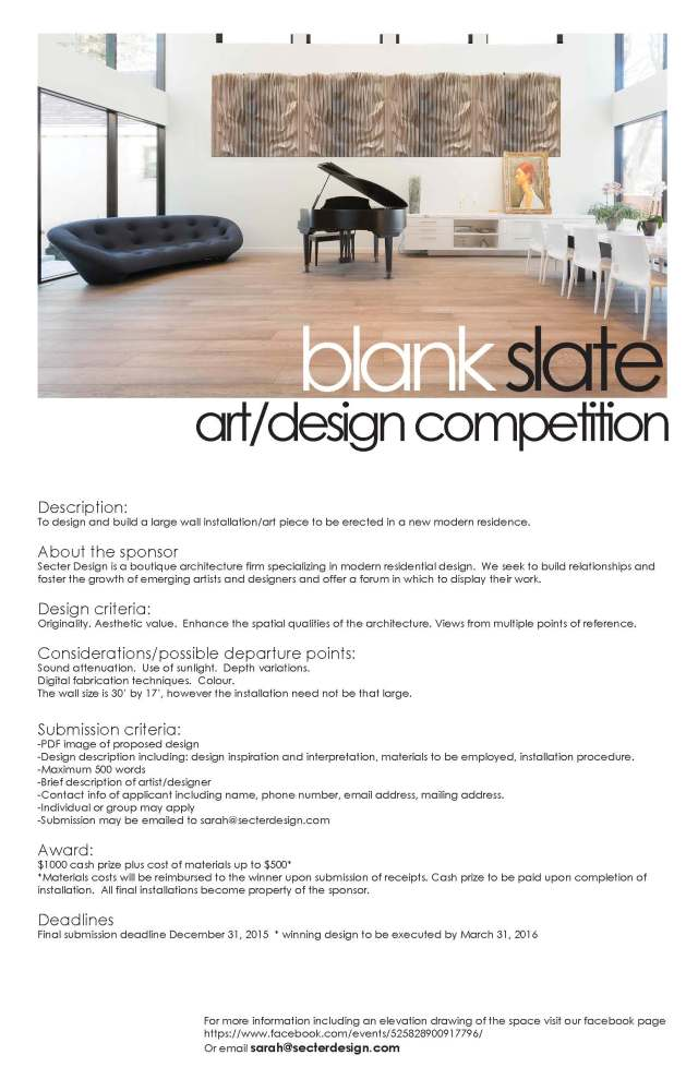blank slate competition