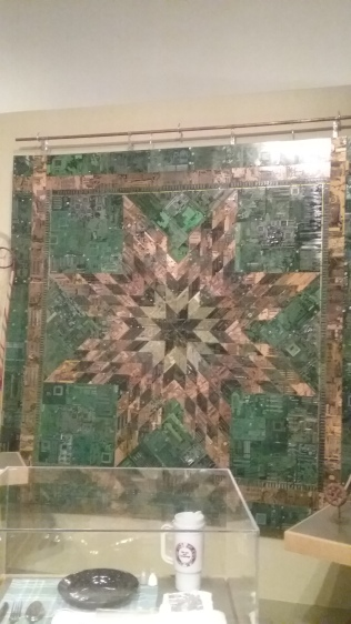 The inuit 'blanket' made from circuit boards
