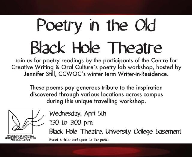 poetry reading.black hole